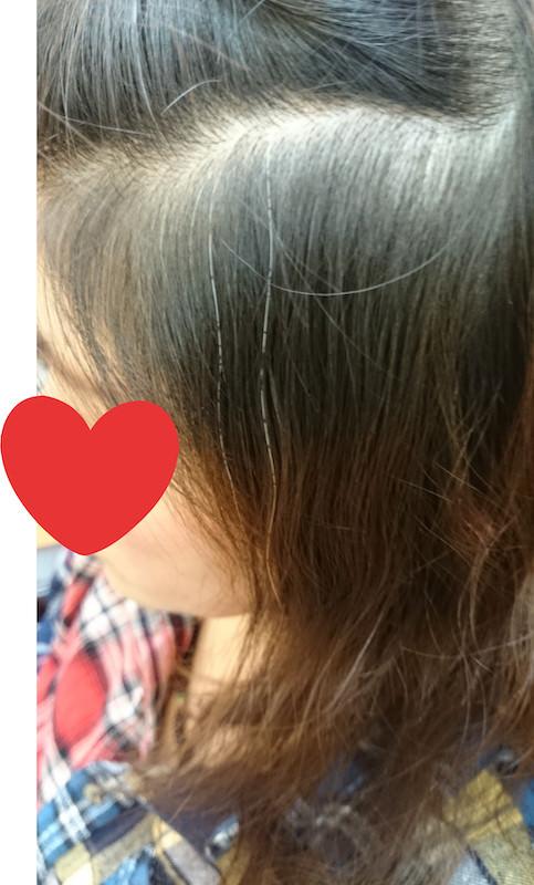 明るく染まる白髪染め